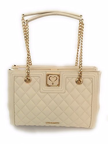BORSA DONNA LOVE MOSCHINO SHOPPER 3 COMPARTI TRAPUNTATA AVORIO BS17MO03