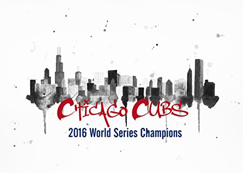 Chicago Cubs 2016 World Series Champions Chicago Skyline Giclee Canvas Print On Gallery Wrapped Canvas by Artist Amber McDowell
