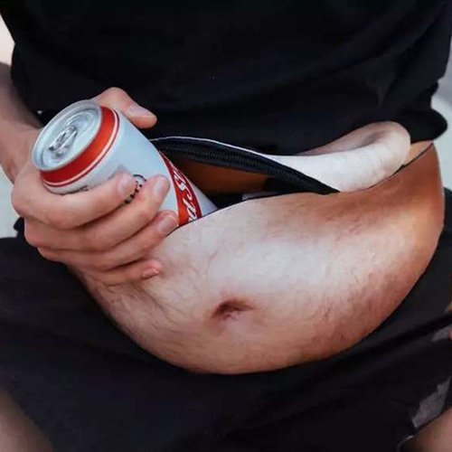 Dad Bod borse vita marsupio running waist Packs unisex falso Belly divertente zaino Storage Beer Lesh colore per iPhone P x Samsung di borse da viaggio