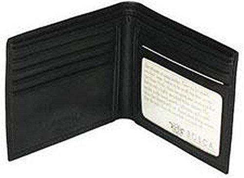 Bosca Men's Nappa Vitello Collection-Executive ID Wallet, Black, One Size
