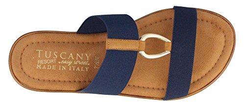 Easy Street Da Donna Toscana, Sandali Con Lacci A Slitta Blu