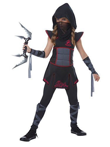 Fearless Ninja Girls Costume Black/Red -