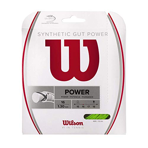 Wilson Synthetic Gut Power Tennis String, Lime, 16-Gauge