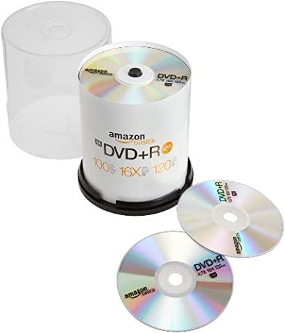 AmazonBasics 4.7 GB 16x DVD+R - 100 Pack Spindle - These Discs