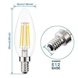 Kohree HY019-HM E12 Edison LED Candelabra Chandeli