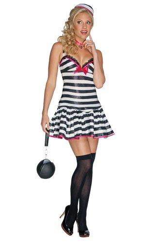 Convicted Cutie Womens Halloween Convict Costume sz XS