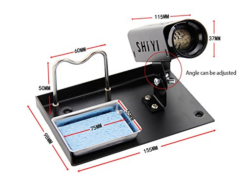 OlogyMart Noble 936 Soldering Station Iron Support Stand Metal Base With 1 Sponge cleaner