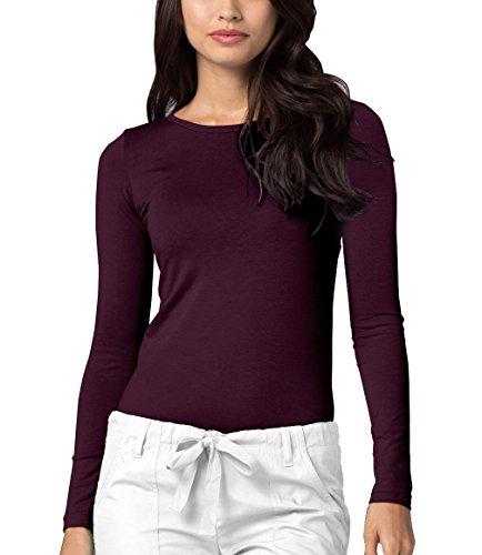 Long Sleeve T-Shirt Underscrub Tee - 2900 - Eggplant - M ()