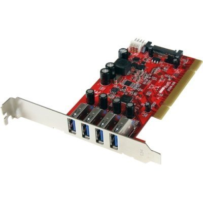 2QV9271 - StarTech.com 4 Port PCI SuperSpeed USB 3.0 Adapter Card with SATA/SP4 Power