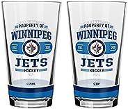 NHL Winnipeg Jets Property of Mixing Glass, 2-Pack