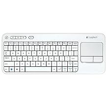 Logitech Wireless Touch Keyboard K400, French CDN Layout, White