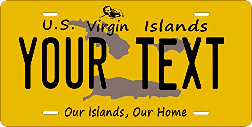 (US Virgin Island 2000-5 Personalized Customs Novelty Tag Vehicle Car Moped Bike Bicycle Motorcycle Auto Lic...)