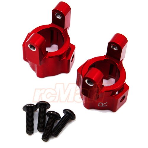 (GPM Aluminum Alloy Front C-Hub Set Red For Axial 1/10 SCX10 #SCX019-R)