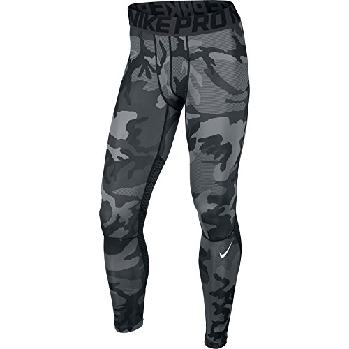 d3b34bb42 Nike Mens Pro Hypercool CAMO Print Tights Black/Anthracite/White 801227-010  Size