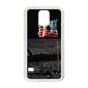 Samsung Galaxy S5 Cell Phone Case White American National Flag Flying Outer Space OJ589990