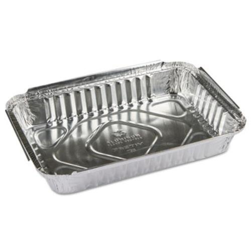 Pactiv Y76830 Oblong Food Pans, 25 oz, 1.63'' Length, 0.76'' Width, 1.46'' Height, Aluminum (Pack of 400) by Pactiv