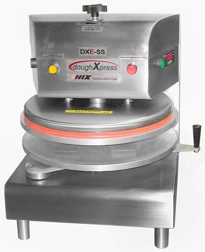 DoughXpress DXE-SS Stainless Steel Commercial Electromechanical Dough Press, 120V, 18-3/16'' Width x 25-1/8'' Height x 24-11/16'' Depth by DoughXpress