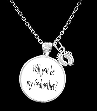 Godmother gift godmother necklace will you be my godmother baby godmother gift godmother necklace will you be my godmother baby feet necklace aloadofball Gallery