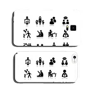 People icon. Set vectors 2. cell phone cover case Samsung S5
