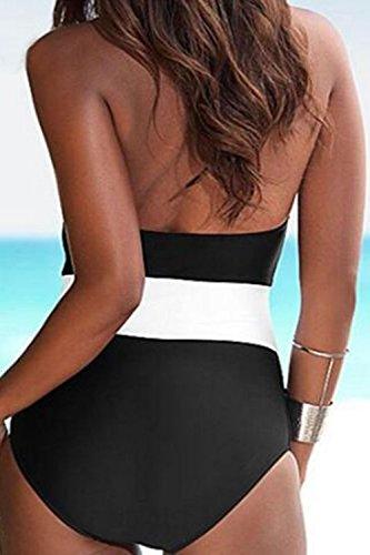 Donne In In Bagno Da Irregolare Bikini Costume Strette Svuotare White1 Tuta Senza Maniche Le UgnSqxwgd