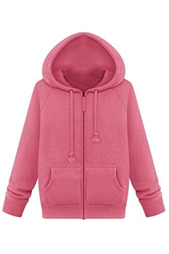 Plus-Size-Womens-Winter-Hoodies-Sports-Casual-Fleece-Hooded-Jacket-Coat-XL-5XL