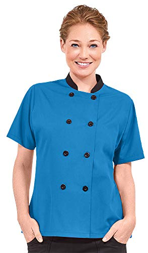 Women's Lightweight Short Sleeve Chef Coat (XS-3X, 3 Colors) (X-Large, MIRBL) ()