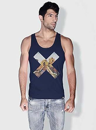 Creo Beirut History X City Love Tanks Tops For Men - L, Blue