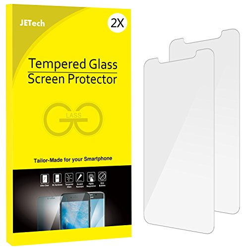 iPhone X Screen Protector, JETech 2-Pack Tempered Glass Screen Protector Film for Apple iPhone X/10