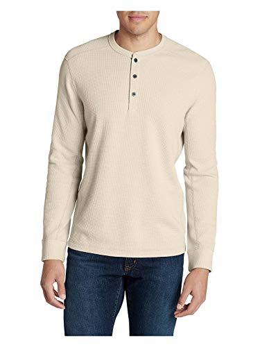 die's Favorite Thermal Henley Shirt, Putty Regular L ()