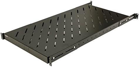 Amazon Com Navepoint 1u 19 Inch Fixed 4 Post Rack Mount Server Shelf With Adjustable Depth From 18 42 Inch Black Electronics