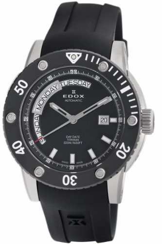 Edox Men's 83005 TIN NIN2 Class-1 Day Automatic Rotating Bezel Watch