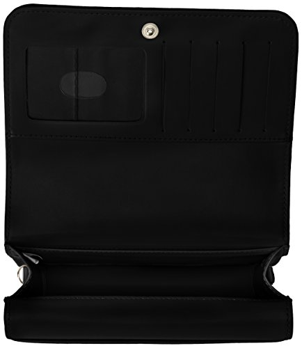 Buxton Black Bag Double Cross Mini Flap Body rWRqz4r0w