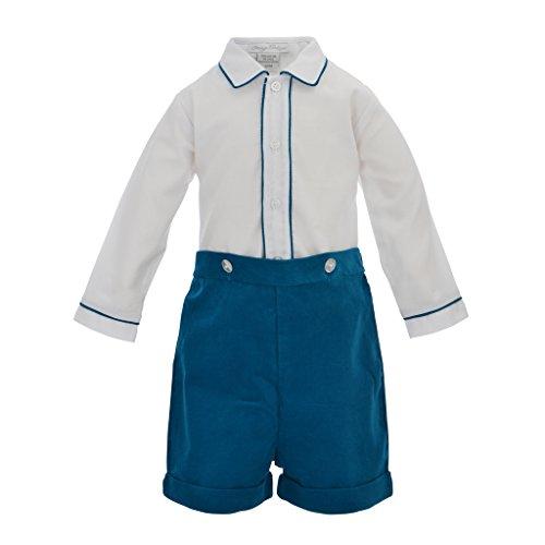 Carriage Boutique Baby Boys 2pc. Blue Corduroy Long Sleeve Bobbie Suit, 18M