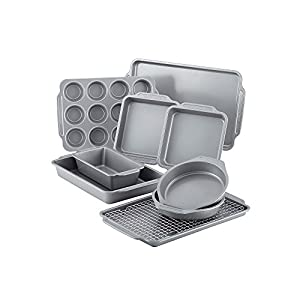 Farberware 10-pc. Nonstick Bakeware Set with Cooling Rack 41nCZQkOeqL