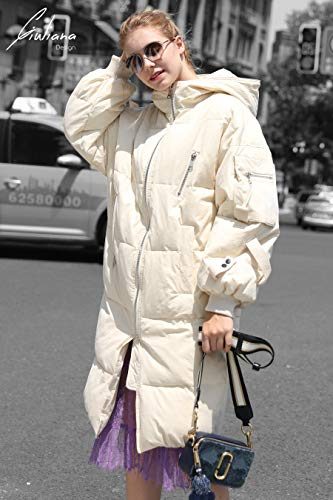 u Army Style Puffer Coat you Women Parka Beige wHUdxq