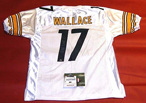 MIKE WALLACE AUTOGRAPHED PITTSBURGH STEELERS W JERSEY AASH