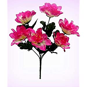 Inna-Wholesale Art Crafts New 6 Dahlia Decorating Flowers Fushia Silk Decorating Flower Bush Bridal Bouquet Centerpiece - Perfect for Any Wedding, Special Occasion or Home Office D?cor 11