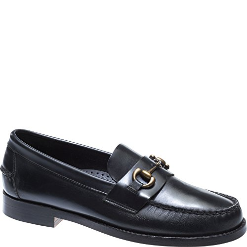 SEBAGO Men's Legacy Bit Men's Black Loafers With Buckle In Size 41.5 E Black