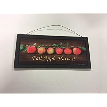 Fall Decorations Apple Harvest Wooden Wall Art Sign Kitchen Signs Fruit
