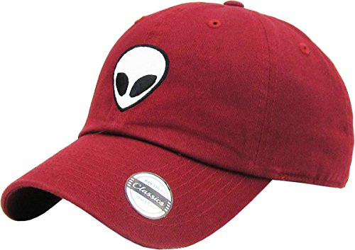 Alien Hat (KBSV-028 BUR Alien Dad Hat Baseball Cap Polo Style Adjustable)