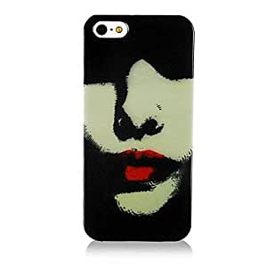 LZX Red Lip Pattern Back Case for iPhone 5/5S
