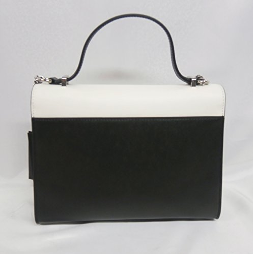 Twin set borsa top handle tracollina pelle AS7PV3 nero/bianco