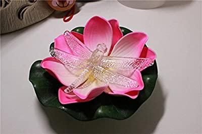 LOGUIDE Firefly Trendy Hip Unique Waterproof Floating LED Lotus Light, Color-changing Flower Night Lamp /Pond /Garden/house Lights for Pool /Party Fancy Ideal Novel Creative Gift for Christmas