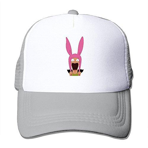 CCbros Bob's Burgers Sunbonnet Mesh Back Hats Caps One Size Fit All Ash - Pappy Van
