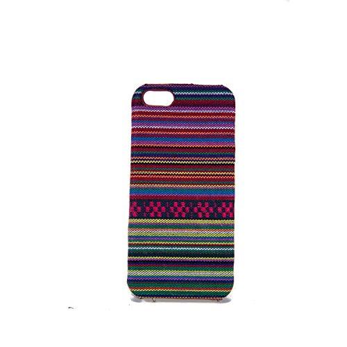 König-Shop Handyhülle aus Stoff-Case für Apple iPhone 5s / SE Cover Etuis Bumper Violett