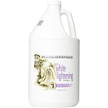 #1 All Systems Pure White Lightening Pet Shampoo, 1-Gallon