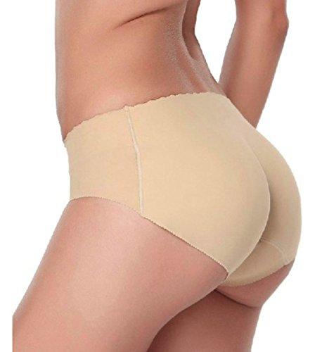 [Underwear, Toraway Padded Seamless Butt Hip Enhancer Shaper Panties (US=8, Flesh)] (Padded Underwear)