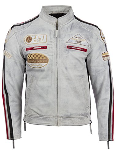 Mens Leather Racing Jacket - 6