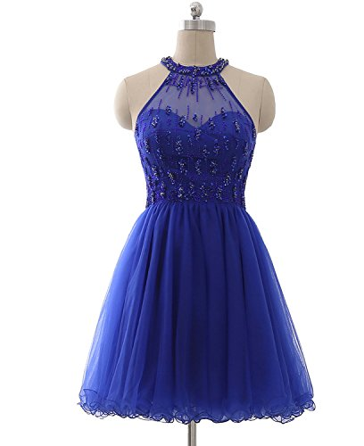 Lx309 Beads Gown Prom Clearbridal Juniors Ball royal for Homecoming Dresses Blue with Party Short gPRSq