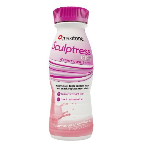 Maxitone Sumptuous Sculptress Diet RTD - Strawberry, 330 ml, Pack of 6 by MaxiNutrition by Maxinutrition